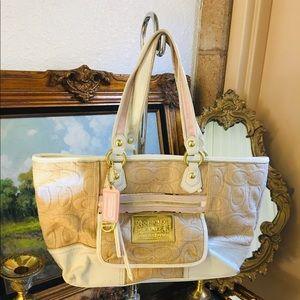 Coach Poppy Purse Handbag Tote Signature Rare!!